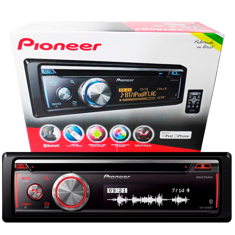 Cd Mp3 Player Pioneer Deh-x8780bt Bluetooth Usb Mixtrax