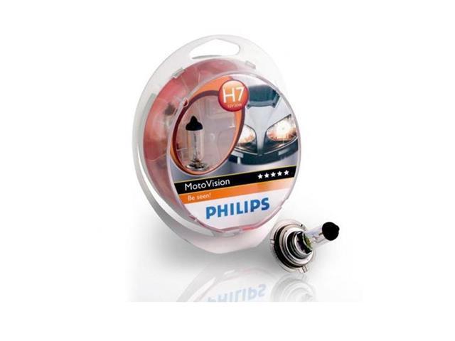 Lampada Motovision +40% De Luz H7 55w Philips (para Moto)