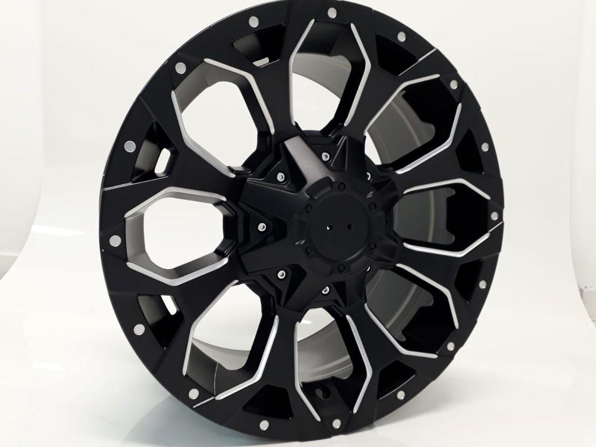Roda M12 KR Aro 17x8 5x114 5x120 6x114 et 15+ Pick-UP  Jogo