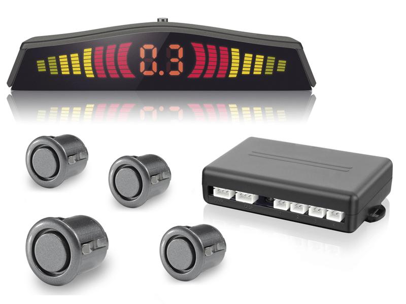 Sensor Estacionamento Ré 4 Sensores Display Led Prime