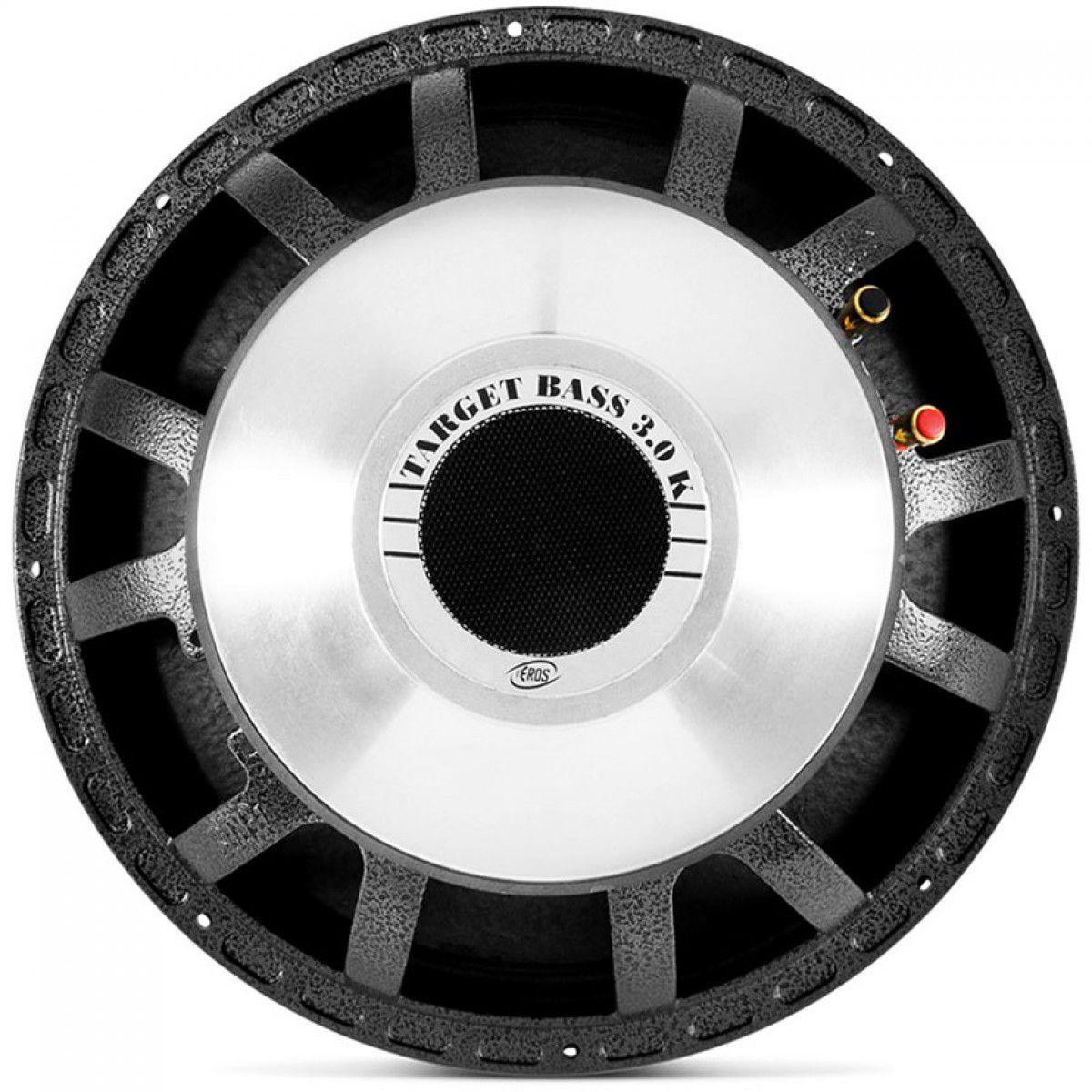 "Woofer 15"" Eros E-15 Target Bass 3.0 K Cromado - 1500 Watts RMS OFERTA"