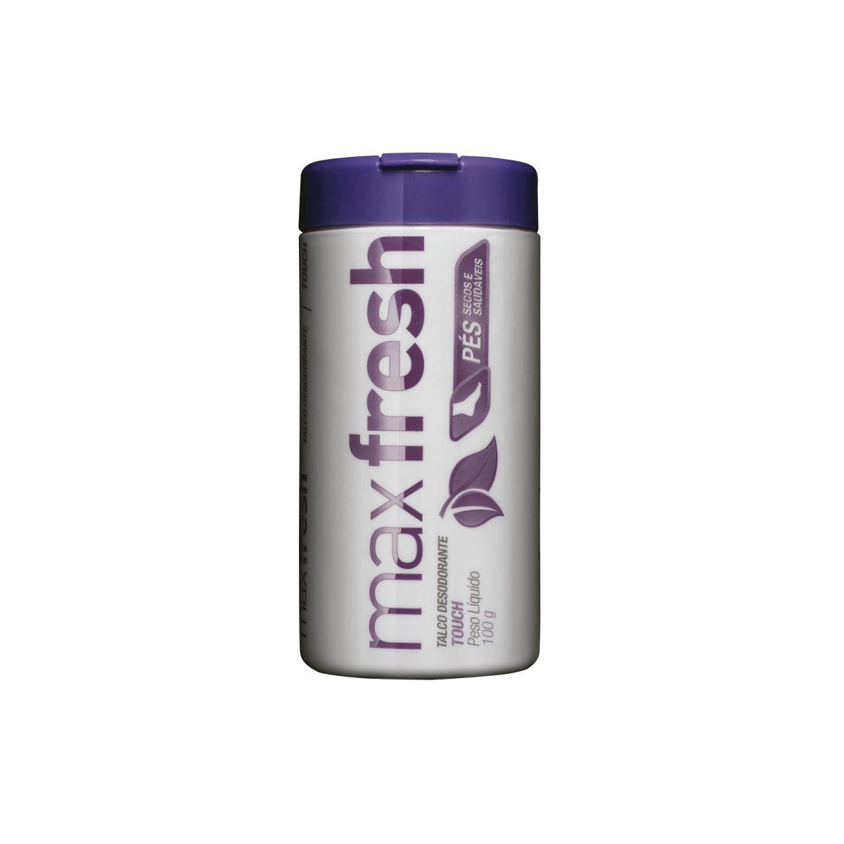 Max Fresh Talco Desodorante Touch 100g  - Saúde Compras