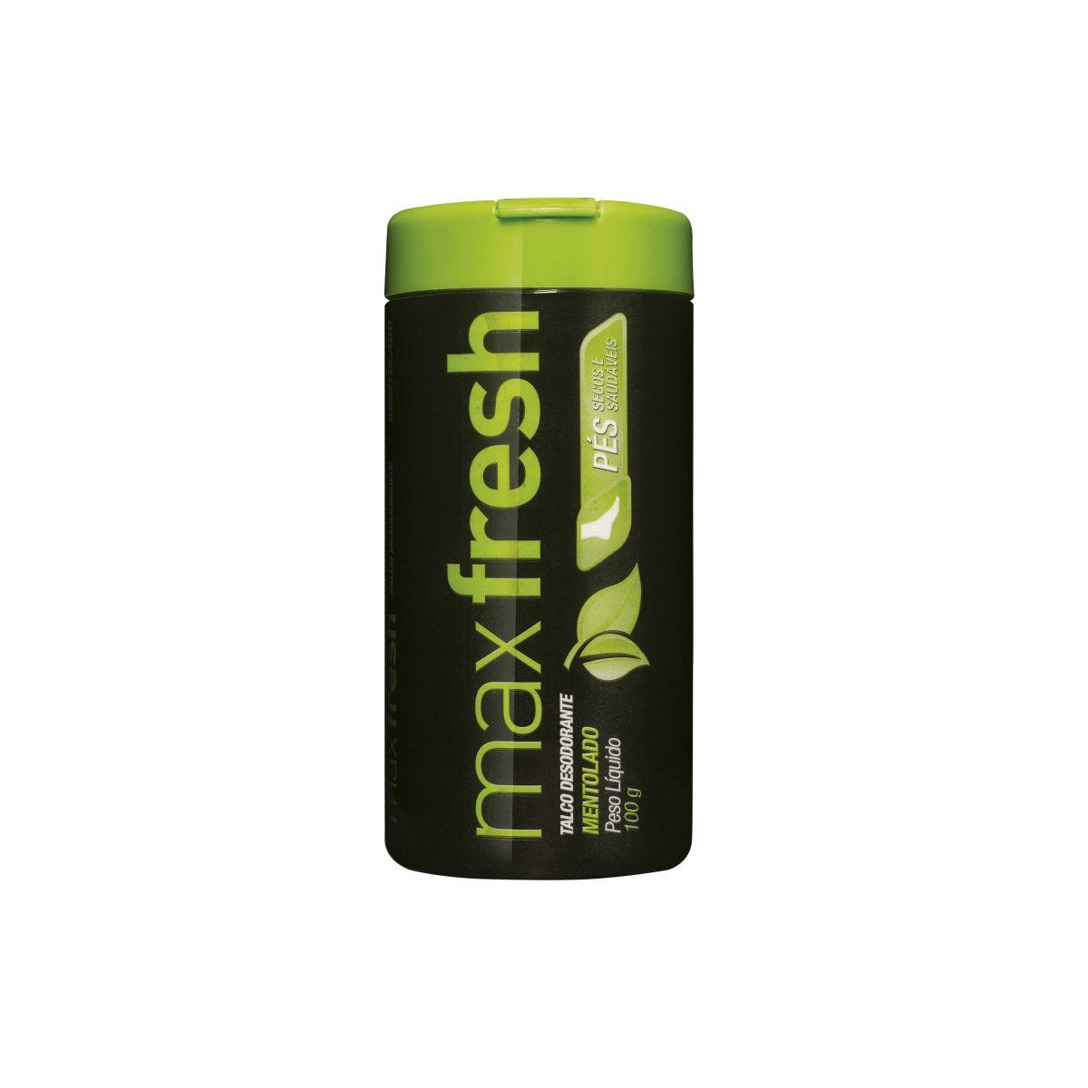 Max Fresh Talco Desodorante Mentolado  - Saúde Compras