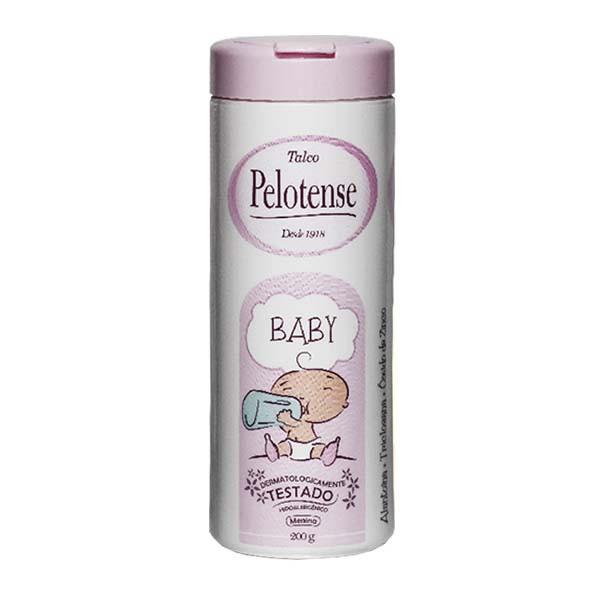 Talco Pelotense Baby Rosa 200g  - Saúde Compras