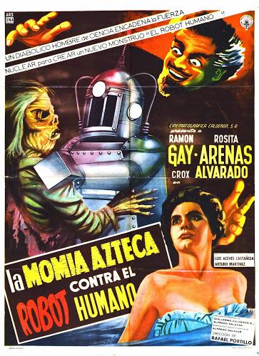 A MÚMIA ASTECA CONTRA O ROBÔ HUMANO (1958)  - FILMES RAROS EM DVD
