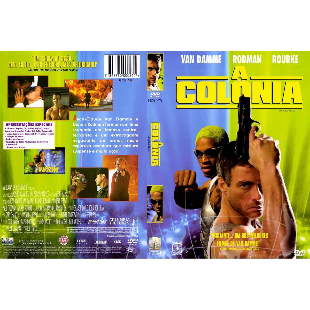 A Colônia (Double Team) - 1997  - FILMES RAROS EM DVD