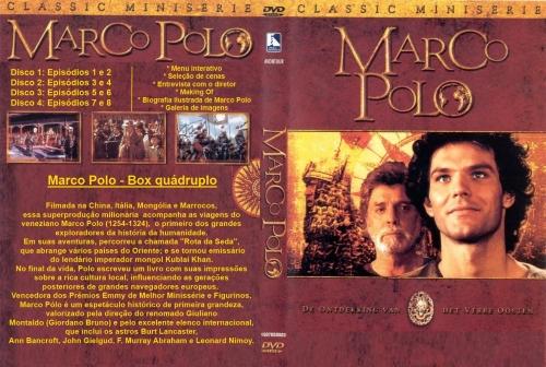 Marco Polo - Box 4 Dvds -  Burt Lancaster  - FILMES RAROS EM DVD