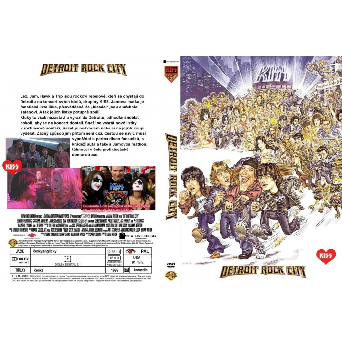 DVD Detroit Cidade do Rock City 1999 (Detroit Rock City)  - FILMES RAROS EM DVD