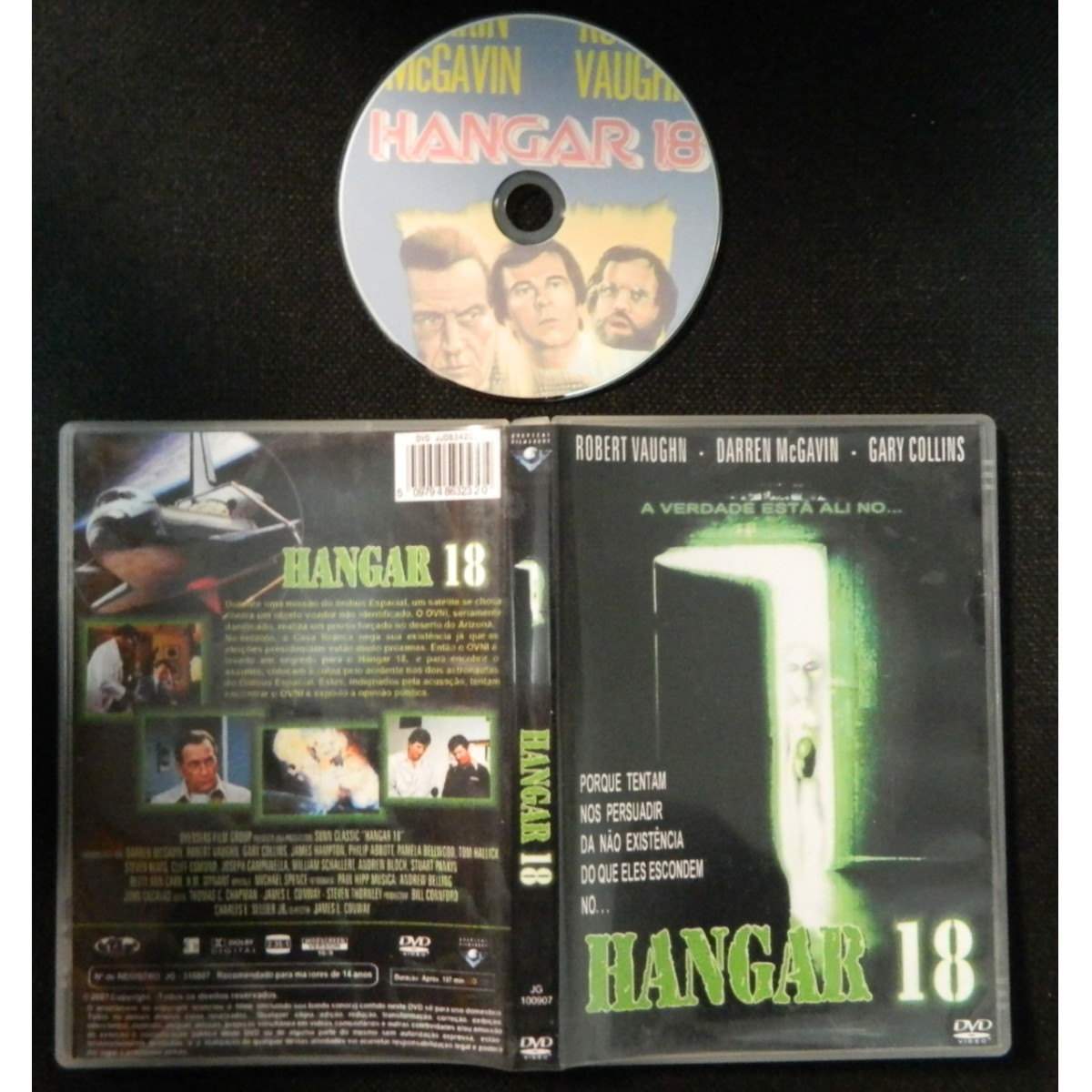 Dvd Hangar 18 - 1980 [ Roswell]   - FILMES RAROS EM DVD