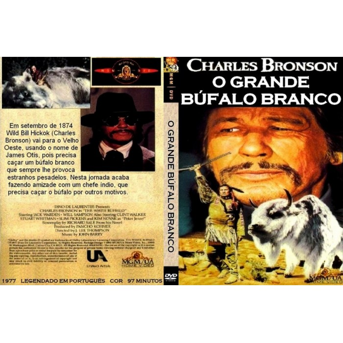 O Grande Búfalo Branco - 1977 Com Charles Bronson  - FILMES RAROS EM DVD
