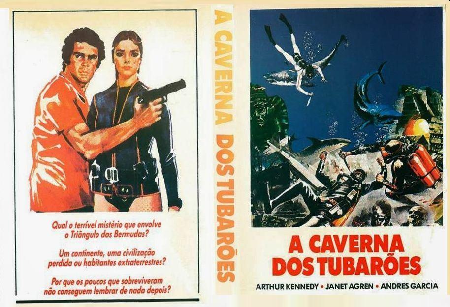 A Caverna dos Tubarões 1978  - FILMES RAROS EM DVD
