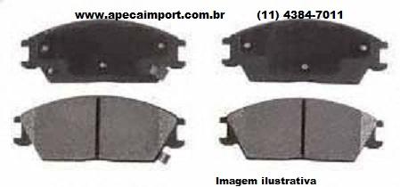 PASTILHA DE  FREIO DIANTEIRA JAC 3  - A PEÇA IMPORT