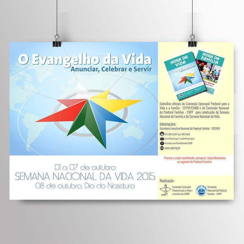 Kit com 10 cartazes da SNV 2015  - Pastoral Familiar CNBB