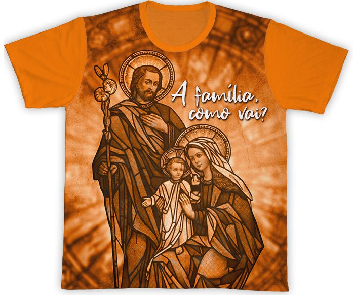 Camiseta Laranja - Semana Nacional da Família 2019   - Pastoral Familiar CNBB