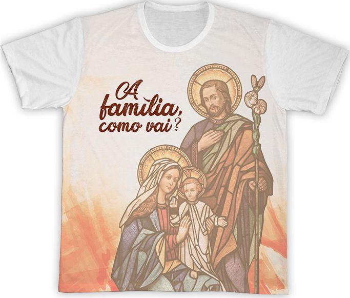 Camiseta Branca - Semana Nacional da Família 2019   - Pastoral Familiar CNBB
