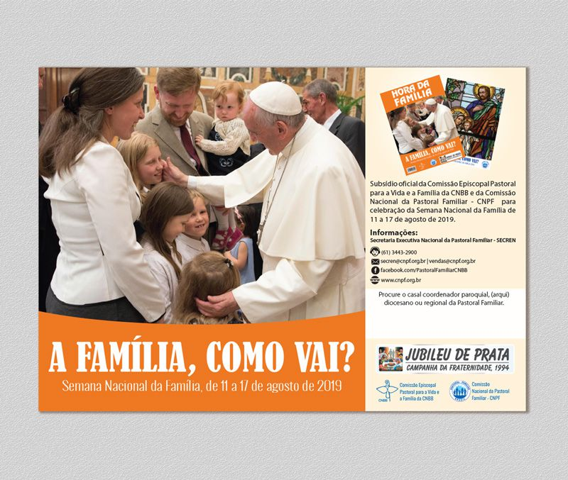 Cartaz Semana Nacional da Família 2019  - Pastoral Familiar CNBB