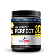 PRÉ TREINO PRE WORKOUT  PERFECT 3D SPORTS NUTRITION 200g