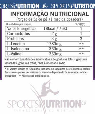 BCAA BETA 250 g EM PÓ SPORTS NUTRITION  - Orluz