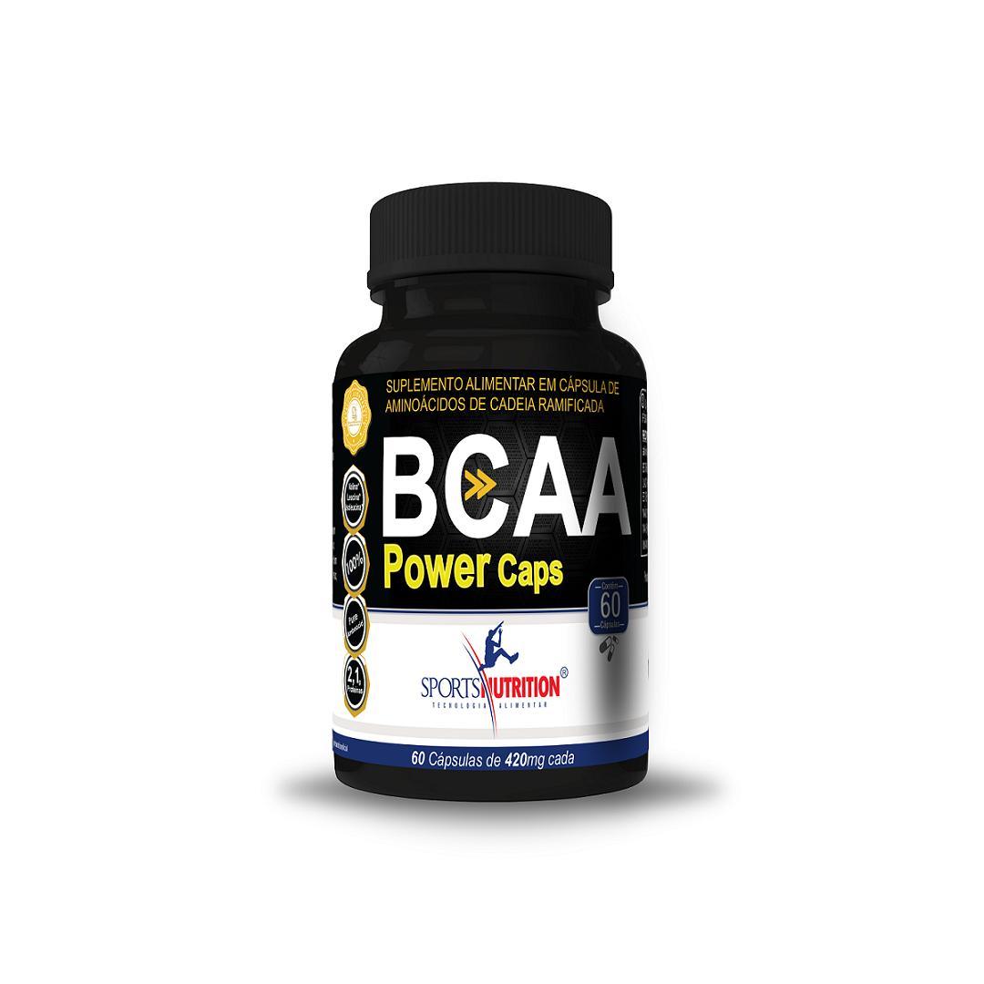 BCAA POWER 60 CÁPS. SPORTS NUTRITION  - Orluz
