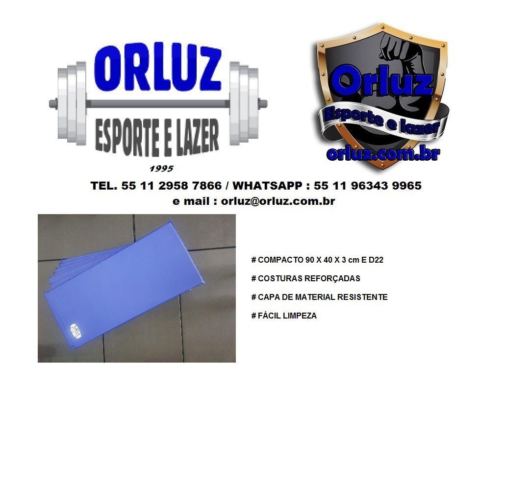 Kit 10 colchonetes profissionais 90 x 40 x 3 cm D22  - Orluz