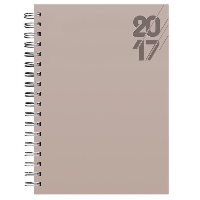 AGENDA POMBO 2017 SEMANAL MODELO B72 CAPA TUCSON COR NUDE, MARCA POMBO.  - Empório das Variedades