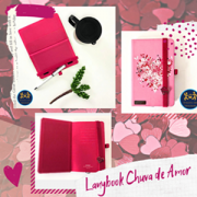 Caderneta Lanybook Chuva de Amor