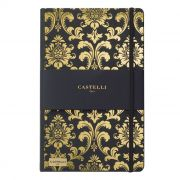 CADERNO IVORY, FORMATO Q24, MODELO QC1NH-464V BAROQUE CASTELLI GOLD