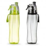 Squeeze plástico 700ml transparente com borrifador