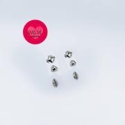 Trio de Brincos Maré - Folheados