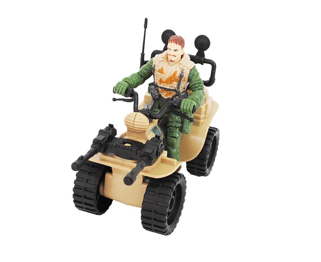 MINI QUADRICICLO SOLDIER FORCE WEASEL E SARGENTO JACKAL  - Empório das Variedades