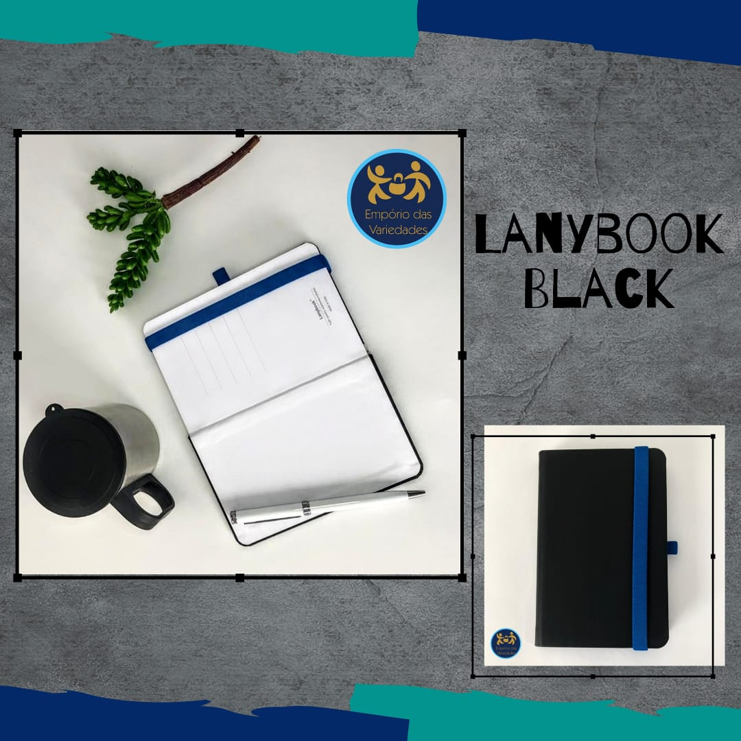 Caderneta Lanybook Black  - Empório das Variedades