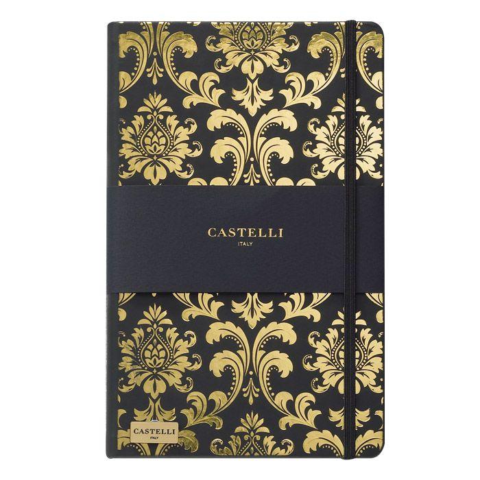 CADERNO IVORY, FORMATO Q24, MODELO QC1NH-464V BAROQUE CASTELLI GOLD  - Empório das Variedades