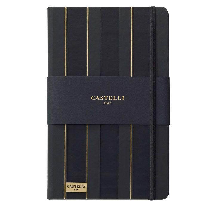 CADERNO IVORY, FORMATO Q24, MODELO QC1NM-464V BAROQUE CASTELLI GOLD  - Empório das Variedades