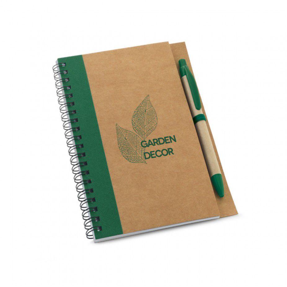 Caderno Personalizado Ecologico Espiral e Caneta   - Empório das Variedades
