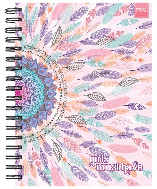 CADERNO UNIVERSITÁRIO GIRLS MUST HAVE POMBO