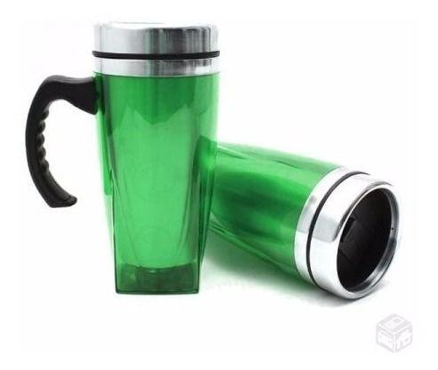 Caneca Inox e Acrílica  450 ml   - Empório das Variedades
