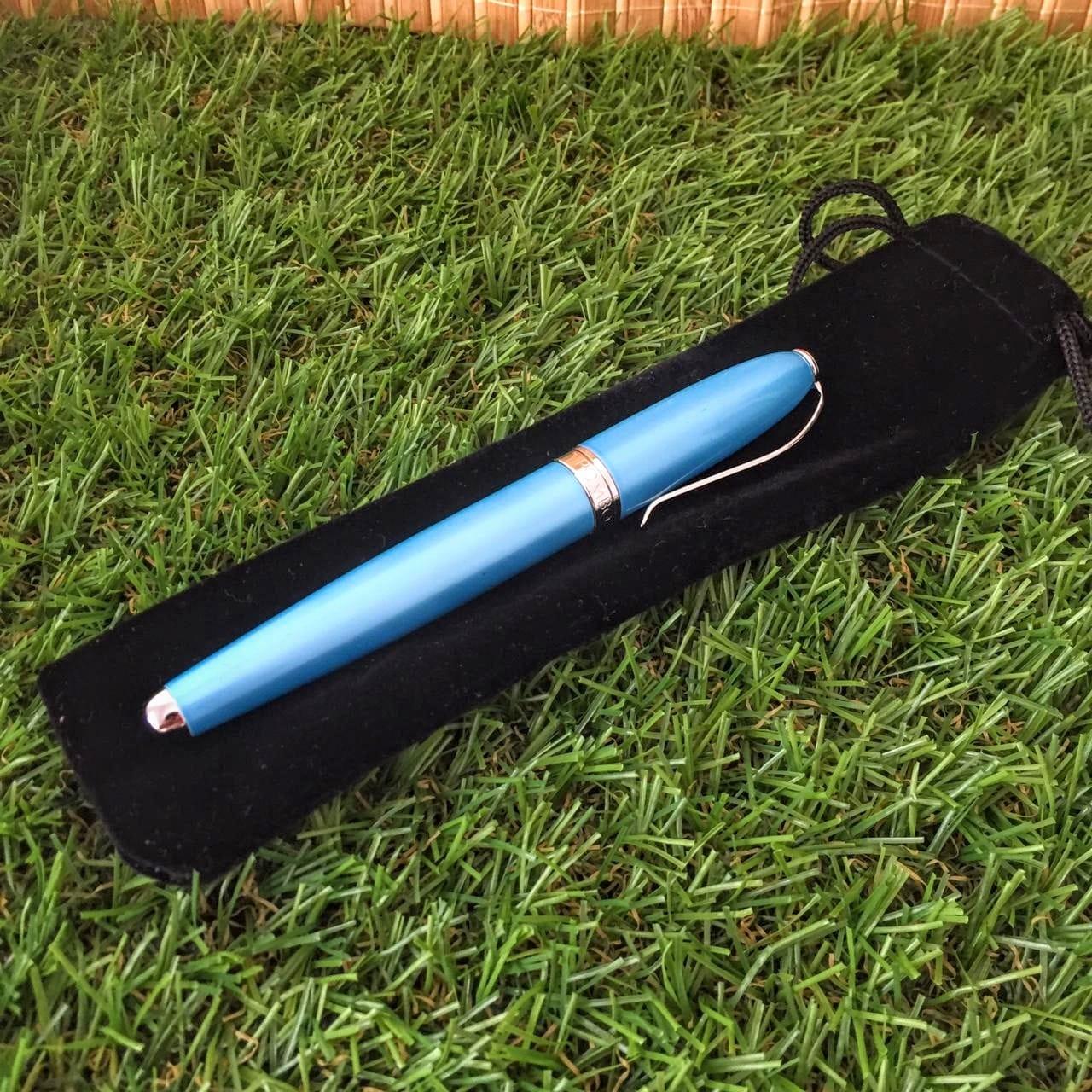 Caneta Regal - Modelo: Perolado Azul Claro  - Empório das Variedades
