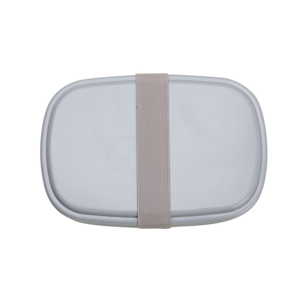 Marmita Plástica Personalizada com 2 Compartimentos + Talheres  - Empório das Variedades