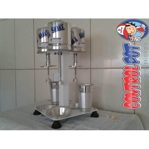 Maquina Milk Shake Profissional Sd 2016 Triplo Balcão 1200w  - controlpot Maquinas e Batedores Milk Shake