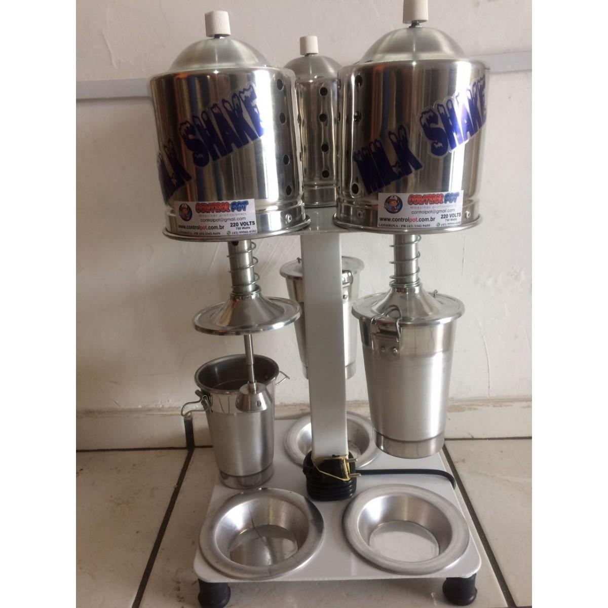 Maquina Milk Shake Profissional Sd 2016 Triplo Balcão 900w  - controlpot Maquinas e Batedores Milk Shake