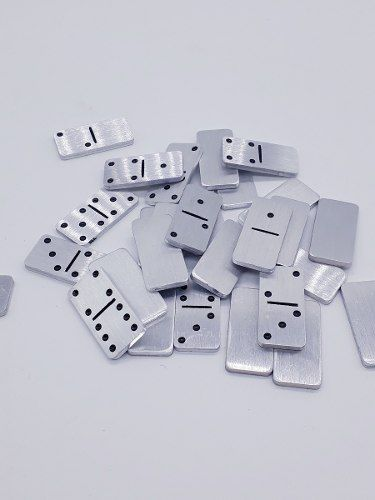 Mini Jogo Domino De Bolso Aluminio Para Viagens Capa Couro  - PRESENTEPRESENTE