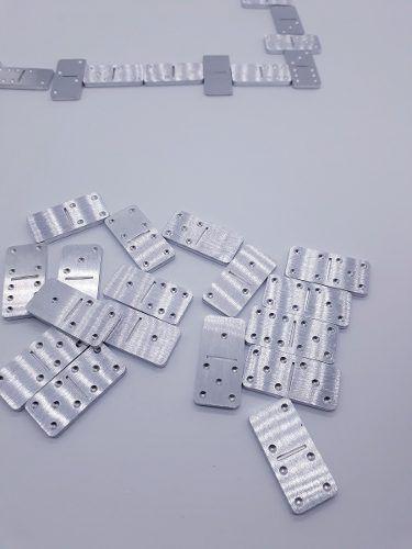 Mini Jogo Domino De Bolso Aluminio Para Viagens Estojo Metal  - PRESENTEPRESENTE