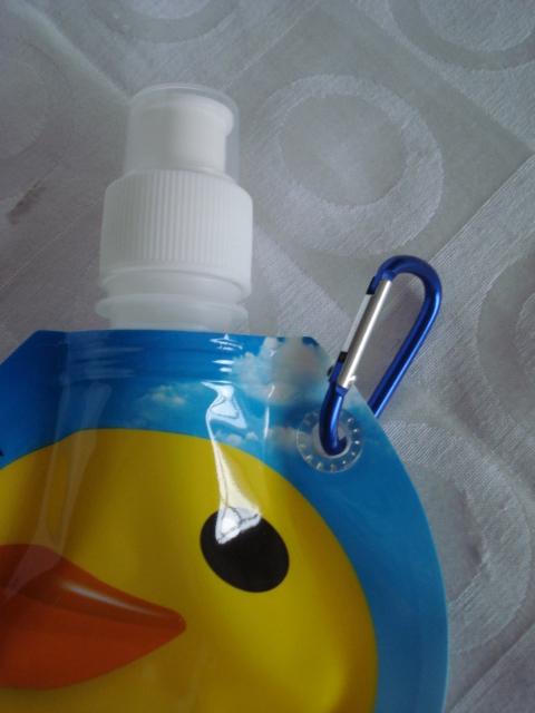 Garrafa De Água Dobrável Patinho Pato Flexível Reutilizável  - PRESENTEPRESENTE