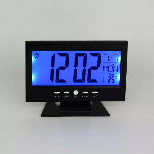6eb9ef9ea82 Relógio Mesa Lcd Digital Despertador Temperatura Led Azul Ft -  PRESENTEPRESENTE