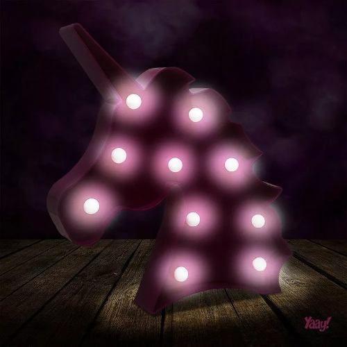 Luminária Sem Fio Unicórnio - Rosa  - PRESENTEPRESENTE