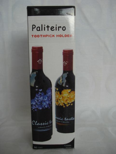 Paliteiro Estilo Garrafa Vinho Tinto  - Presente Presente