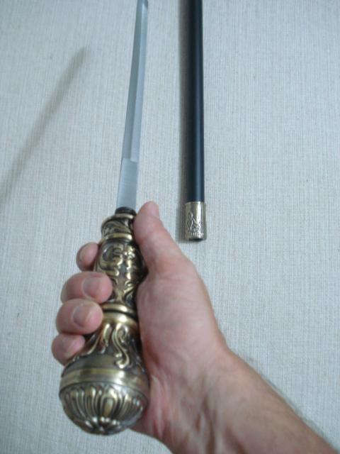 Bengala Espada Cetro Faca Camuflada 90x5 Cabo Esfera  - PRESENTEPRESENTE
