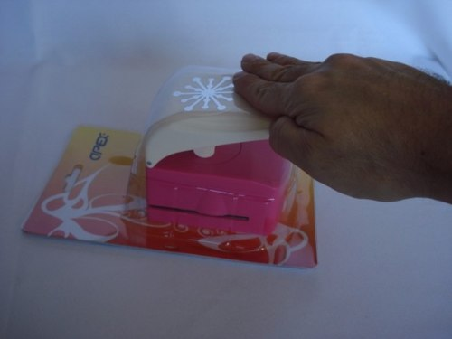 Furador Perfurador Scrapbook Frozen Floco De Neve Corte 5cm  - PRESENTEPRESENTE