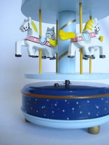 Mini Carrossel Musical Caixinha Azul Escuro  - PRESENTEPRESENTE