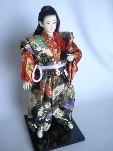Miniatura Samurai Guerreiro Japones Oriental Kimono  - José Geraldo Almeida Marques